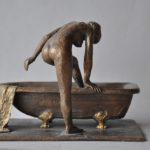 Badende 1, Bronze patiniert