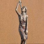 Mohn Lisa, Bronze, patiniert